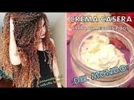Crema Casera Ultra Hidratante Para Definir Tus Rizos Y Tenerlos Perfectos Todo El Día Crema Para El Cabello Tratamientos Para Cabello Rizado Rizos
