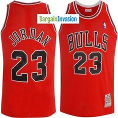 cd16b6e297131b NBA Chicago Bulls Michael Jordan Mitchell and Ness Red Jersey