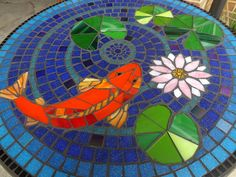 Résultats de recherche d'images pour « mosaic koi » Mosaic Patterns, Rug Hooking, Garden Art, Mosaic Tables, Images, Creatures, Kids Rugs, Simple, Outdoor Decor