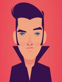 Elvis Presley by Stanley Chow