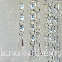 Colgantes de cristales por BlingBridalEvents en Etsy