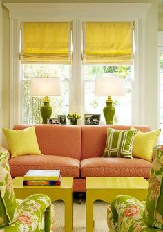 Yellow and Green Living Room. Yellow and Green Living Room. Split Complementary Color Scheme, Orange Rooms, Living Room Color Schemes, Living Room Green, Color Harmony, Modern Colors, Mellow Yellow, Orange Yellow, Bright Yellow