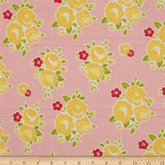 Riley Blake Sidewalks Flannel Floral Pink