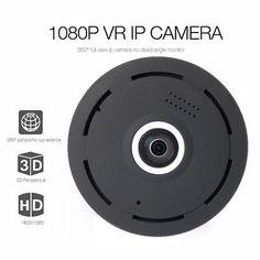 Mini 360 Degree Panoramic Wireless Wifi IP Fisheye Camera Two Way Audio 1080P HD
