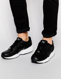 Almost weather proof! These black leather Puma trainers are perfect for every day wear. I'd wear these with my black skinny joggers and leather jacket for a day out shopping or to lunch with my friends.