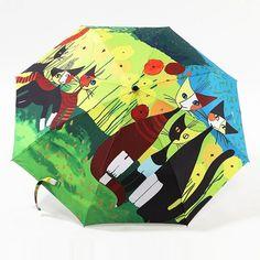 Купить товарКартина маслом cat узор солнце дождь зонтик дождь женщины 3 раскладной утолщение анти горячий ультрафиолетовый абстрактный искусство, Артикул 04A1C02 в категории Зонтына AliExpress.        Масляной живописи кот%