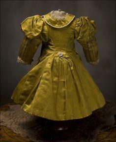 """Antique RARE French Original Dress for Jumeau, Bru, Steiner Bebe Doll 18-19"""" Antique dolls at Respectfulbear.com"""