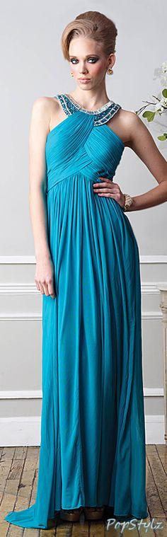 Terani Couture Peacock Dress
