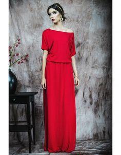 Sukienka czerwona długa