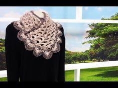 Gola de crochê Bico Bolinha - Passo a Passo - Professora Simone #Crochet - YouTube
