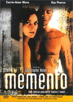 MEMENTO  Dir : Christopher Nolan  My Review : A complicatedly narrative that'll grip you down the throat. Concentration is the key to understand this one...