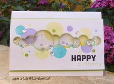 Bubble Parade Shaker by yorkshire lass - Cards and Paper Crafts at Splitcoaststampers