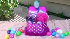 Girly-Girl Easter Basket - Adorable frilly homemade themed Easter baskets on a budget. Pick a theme and shop smart at your local Dollar Store. Use fun, practical items to fill it with just a few sweet treats.
