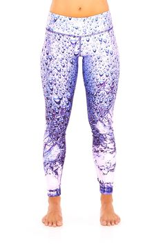 Womens Rainy Days Tall Band Performance Leggings