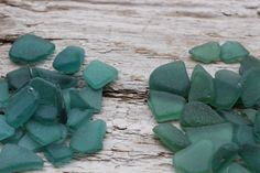 Dark Teal  Emerald  Forest Green Tiny Sea by BalticBeachTreasures