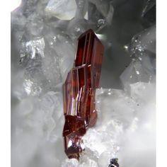Pyrostilpnite (rare) ~ Clara Mine, Wolfach, Black Forest, Baden-Württemberg, Germany Formula: Ag3SbS3 Strunz: 2.GA.10 Hardness: 2.0