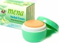 12 Pcs./mena Extra Whitening Anti-aging Herbal Mineral Renewal Natural Cream 3g Made in Thailand by BEST CHEAP Healthcare. $66.00. 12 Mena Extra Whitening Herbal Renewal Cream 3g.  Extra White Restore natural balance and reveal a healthier skin  Original  Mena Cream from Thailand! Ship from the US.    Mena Herbal Cream the formulation is enriched with herbal extracts and white mineral that instantly is absorbed into your skin , leaving it with a healthy glow.   Mena Herbal Cre...
