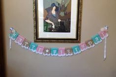 Happy Birthday Banner, Shabby Chic, Burlap, Multi-Color, Lace, Burlap Banner on Etsy, $23.00