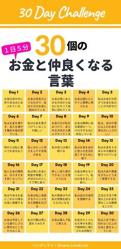 Japanese Handwriting, Business Notes, Money Affirmations, Happy Words, 30 Day Challenge, Positive Words, Favorite Words, Powerful Words, Study Tips