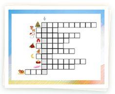 lasten tulostettava ristikko, jouluinristikko Brain Breaks, Diagram, Teaching, Brain Games, Education, Learning