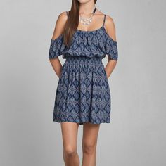 Womens Renee Cold Shoulder Dress | Womens Clearance | Abercrombie.com