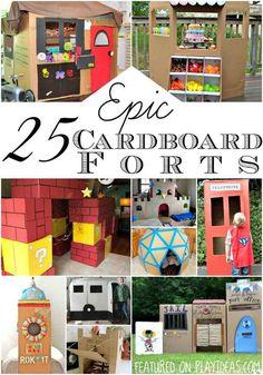 Epic cardboard forts.