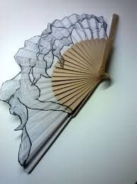Items similar to hand painted Spanish fan. long hair with the wind, bridesmaids accessories on Etsy Antique Fans, Vintage Fans, Hand Held Fan, Hand Fans, Chinese Fans, Fan Decoration, Diy Fan, Bridesmaid Accessories, Chinese Culture