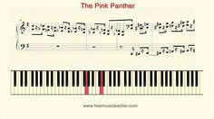 """How To Play Piano: """"The Pink Panther"""" Piano Tutorial by Ramin Yousefi"""