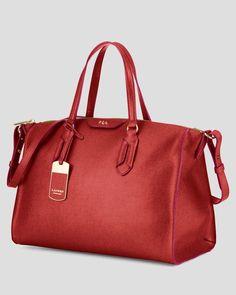 4a721793d3 NEW Lauren by Ralph Lauren Tate Convertible Satchel Red Leather   LaurenbyRalphLauren  Satchel. Stéphanie · Bags