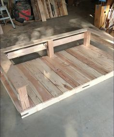 DIY+Pallet+Swing+Bed