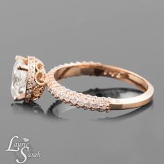 Moissanite Engagement Ring Forever Brilliant by LaurieSarahDesigns