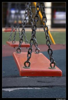 Whatever happened to flat-butt swings?  These were SO much better than the scoopy swings my kids know.