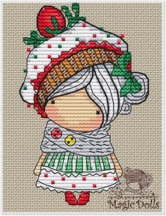 French Knot Embroidery, Japanese Embroidery, Embroidery Stitches, Flower Embroidery, Easy Cross Stitch Patterns, Simple Cross Stitch, Cross Stitch Designs, Stitch Doll, String Art Patterns