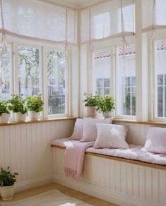 make-your-home-feel-brighter-with-sheer-window-coverings - Sunroom Windows Small Sunroom, Sunroom Windows, Sunroom Decorating, Sweet Home, New Homes, House Design, Loft Design, Design Design, Interior Design