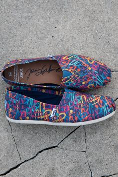bb6232ae3cf Spread love in multi-colored heart printed TOMS X James Goldcrown Hearts  Classics. Closet