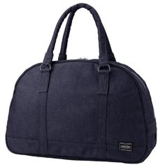 Porter Smoky Boston Bag. Product No.592-06390 Material: CORDURA duck (warp: 1000D irregular cotton yarn, weft: 1000D CORDURA nylon). Size: W390/H260/D145 Weight: 580g / 12Litre