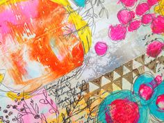 Using the Geli Plate in your art journal.