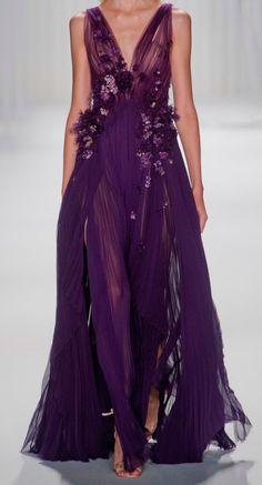 Mendel at New York Fashion Week Spring 2013 - StyleBistro Gorgeous! Purple Fashion, Look Fashion, New York Fashion, Beautiful Gowns, Beautiful Outfits, Looks Style, Purple Dress, Purple Gowns, Dream Dress