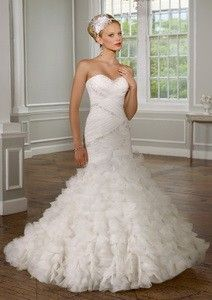 c223268f149 2015 Strapless Tulle Wedding Gown by Mori Lee 1619 Dress