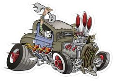 Street Rod Cartoons | Retro Rat Rod Metal Sign