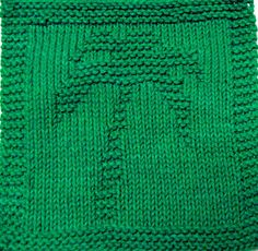 Knitting Cloth Pattern -  PALM TREE - PDF                              …