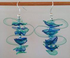 Orecchini in plastica riciclata in Orologi e gioielli, Bigiotteria, Orecchini | eBay