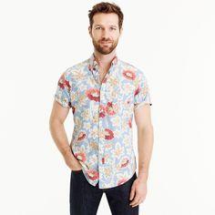 83eeaa29721b Short-sleeve shirt in light blue floral print