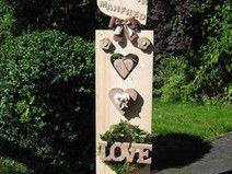 ♥♥ Individuelle 115cm XXL Hochzeitsnamens-Säule ♥♥