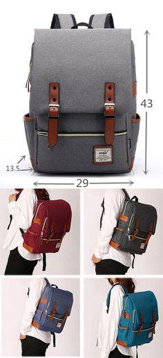 Vintage Canvas Travel Backpack Leisure Backpack Schoolbag for big sale!   vintage  canvas  school 3de336923c