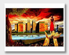 Assyrian Art Mother Assyria Art Print Digital Art by DoniainArt
