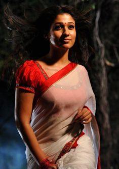 Nayantara Latest Photos In Hot Spicy White Saree Nayanthara In Saree, Nayanthara Hairstyle, Beautiful Girl Indian, Beautiful Indian Actress, Beautiful Actresses, Beautiful Saree, Hollywood Girls, Hollywood Model, Indian Natural Beauty