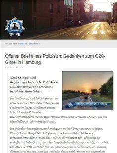 """""""Frechheit"""" Offener Brief eine Polizisten zu G20"""