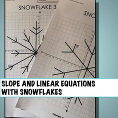 Great project to play with slope and linear equations this winter. Students analyze slopes of snowflakes and develop their own. Algebra Activities, Maths Algebra, Math Resources, Math Teacher, Math Classroom, Teaching Math, Teacher Stuff, Classroom Ideas, Junior High Math
