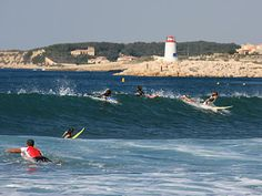 Might want to try some surfing at Sausset-les-Pins near Marseille, Provence